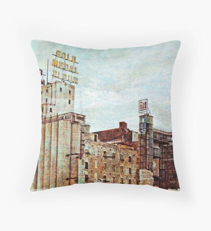 Mill District in Minneapolis Throw Pillow