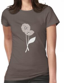 Retro flowers pattern 004 Womens Fitted T-Shirt
