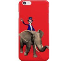 Uncle Sam Riding On Elephant iPhone Case/Skin