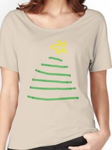 Simple Christmas tree Women's Relaxed Fit T-Shirt