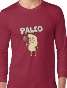 cartoon woman on paleo diet Long Sleeve T-Shirt