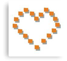 Heart 8-bit Canvas Print