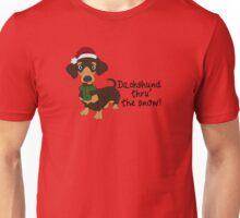 Dachshund Thru' The Snow Unisex T-Shirt