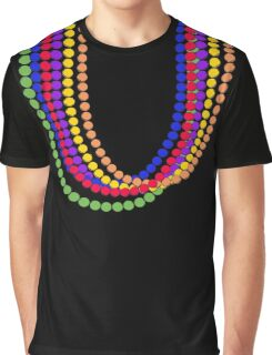 Mardi Gras Carnival Rainbow Necklace beads Graphic T-Shirt