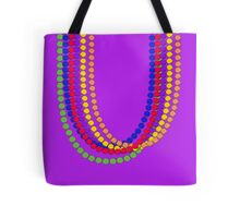Mardi Gras Carnival Rainbow Necklace beads Tote Bag
