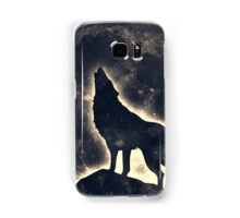 Wolf, moon, fantasy, wild, dog, wolves Samsung Galaxy Case/Skin