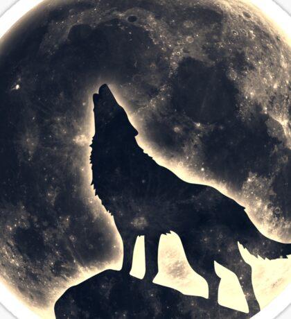 Wolf, moon, fantasy, wild, dog, wolves Sticker