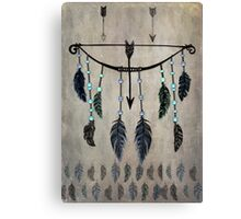 Bow, Arrow, and Feathers Canvas Print