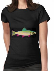 Neon Rainbow Trout Womens Fitted T-Shirt