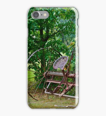 Antique rake iPhone Case/Skin