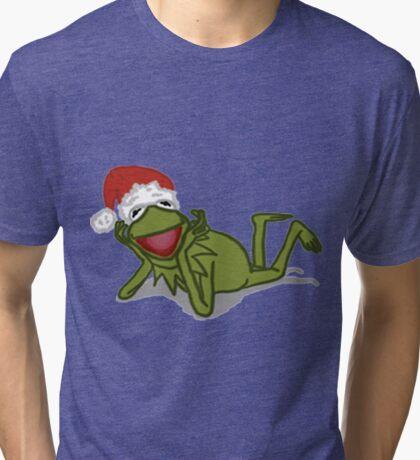 A Kermit Christmas Tri-blend T-Shirt