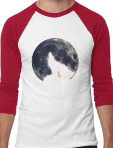 Wolf, moon, fantasy, wild, dog, wolves, sky, night Men's Baseball ¾ T-Shirt