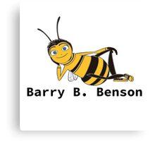 Barry B. Benson - Animation Text Design Canvas Print