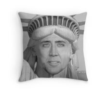 Nicolas Cage - Statue of Liberty Throw Pillow