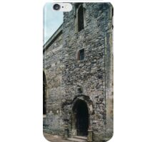 Entrance door Priory church of St Mary Deerhurst England 198405140057  iPhone Case/Skin