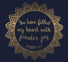 Psalm 4:7 Kids Tee