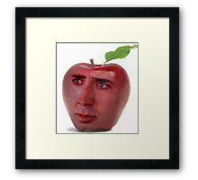 Nicolas Cage/Apple Framed Print