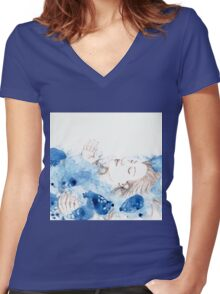 My Ophelia - Meditation on Water Women's Fitted V-Neck T-Shirt
