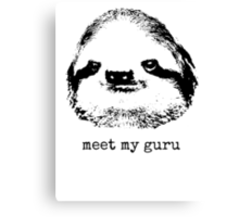 meet my guru Canvas Print