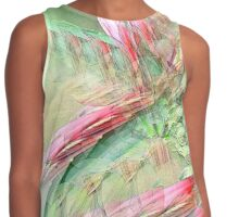 Flowers in abstract form Contrast Tank