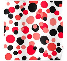 Unusual dotted pattern from painted rounds Poster