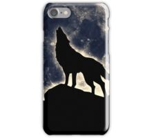 Wolf, moon, fantasy, wild, dog, wolves, sky, night iPhone Case/Skin