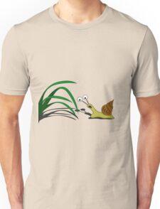 Snail on the grass Unisex T-Shirt