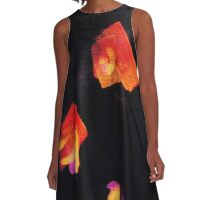 ABSTRACT PAINT DAUBS A-Line Dress