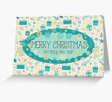 Christmas & New Year Pattern Greeting Card