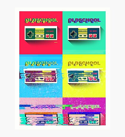 Retro Gamer Popart Photographic Print