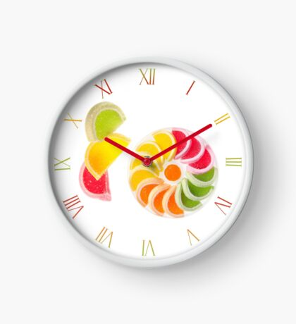 Multicolored chewy wine gums Clock