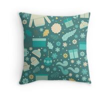Christmas & New Year Pattern 2 Throw Pillow