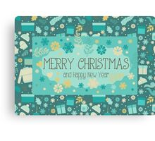 Christmas & New Year Pattern 2 Canvas Print