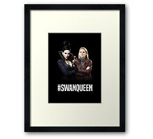 Once Upon A Time: #SWANQUEEN Framed Print