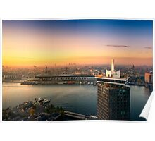 Amsterdam skyline in the morning Poster