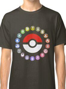 Pokemon Type Wheel Classic T-Shirt