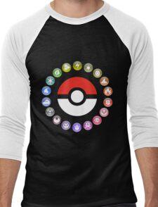 Pokemon Type Wheel Men's Baseball ¾ T-Shirt