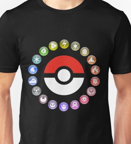 Pokemon Type Wheel Unisex T-Shirt