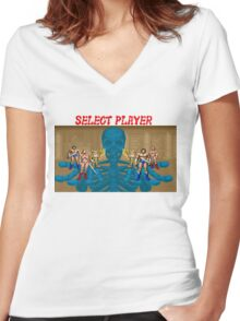 Golden Axe - Select Player Women's Fitted V-Neck T-Shirt
