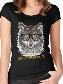 Nerd Wolf Who's your granny Women's Fitted Scoop T-Shirt