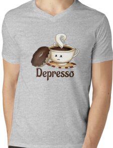 Depresso Mens V-Neck T-Shirt