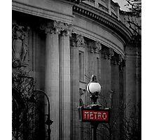 Paris Metro Sign Photographic Print