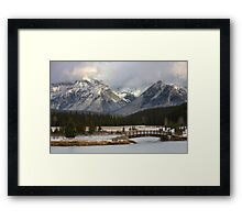 Cascade Ice Framed Print