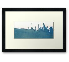 Cyanotype Design Abstract Landscape 2 Framed Print