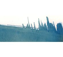 Cyanotype Design Abstract Landscape 2 Photographic Print