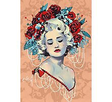 Christmas Blond Beauty Photographic Print