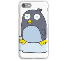 cartoon penguin on ice iPhone Case/Skin