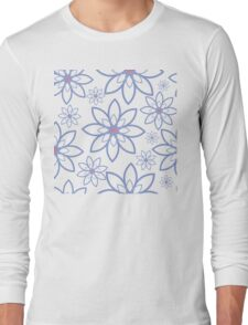 Abstract flowers pattern Long Sleeve T-Shirt