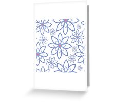 Abstract flowers pattern Greeting Card