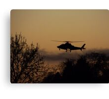 sky chopper Canvas Print